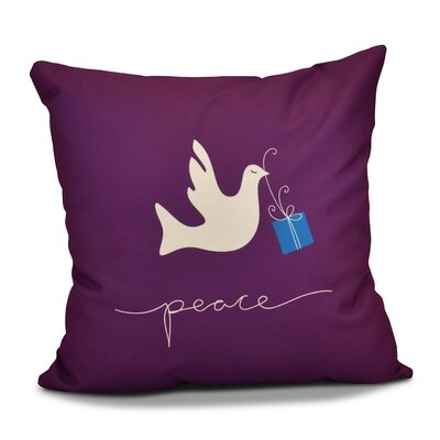 Decorative Holiday Animal Print Outdoor Throw Pillow Size: 20 H x 20 W, Color: Purple