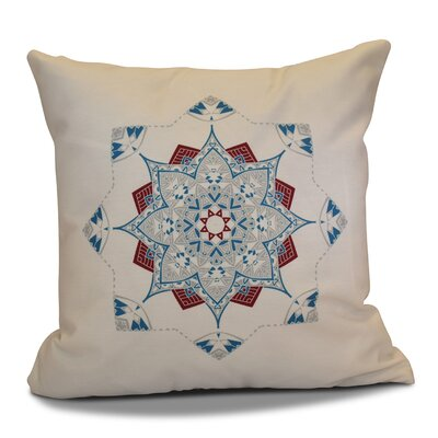 Cicco Star Outdoor Throw Pillow Color: Teal/Red, Size: 18 H x 18 W