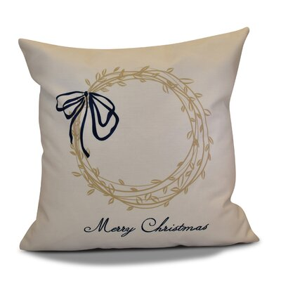 Merry Wishes Throw�Pillow Size: 16 H x 16 W, Color: Taupe