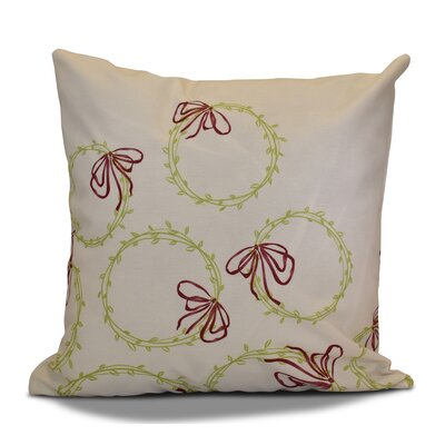 Holiday Simple Wreath Throw Pillow Size: 26 H x 26 W, Color: Light Green