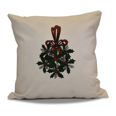 Decorative Holiday Throw Pillow Size: 16 H x 16 W, Color: Dark Green