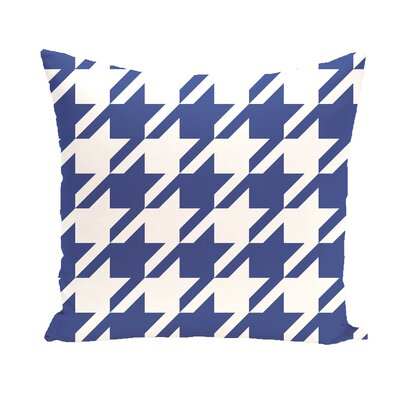 Donaldson Geometric Outdoor Throw Pillow Color: Blue