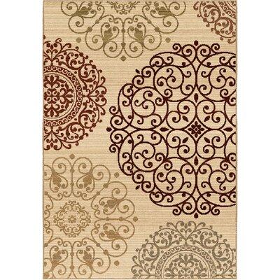 Acorn Oaks Ivory Area Rug Rug Size: 67 x 98