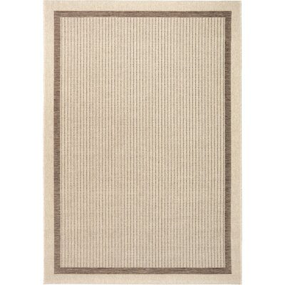 Acton Tan/Ivory Indoor/Outdoor Area Rug Rug Size: 51 x 76