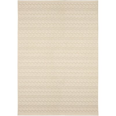 Acton Ivory Geometric Indoor/Outdoor Area Rug Rug Size: 51 x 76