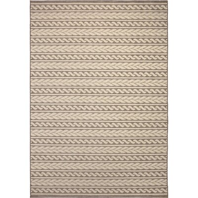 Acton Tan Indoor/Outdoor Area Rug Rug Size: 7'7