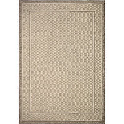 Acton Tan Indoor/Outdoor Area Rug Rug Size: 51 x 76