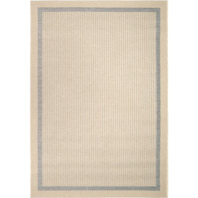 Acton Gray/Ivory Indoor/Outdoor Area Rug Rug Size: 51 x 76