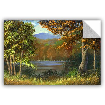 Mountain Pond Painting Print