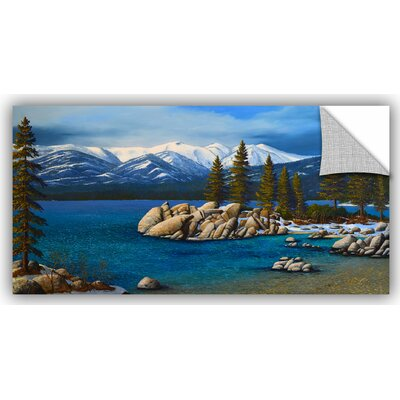 Winter at Sand Harbor Lake Tahoe Painting Print Size: 12