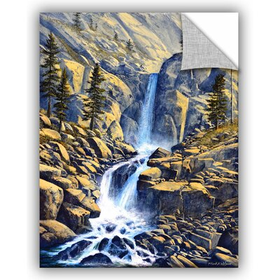 Wilderness Waterfall Painting Print