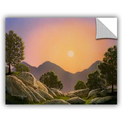 Glowing Landscape Painting Print