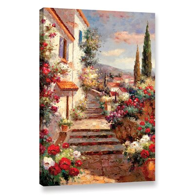 Stairstep Bouquets Painting Print on Wrapped Canvas