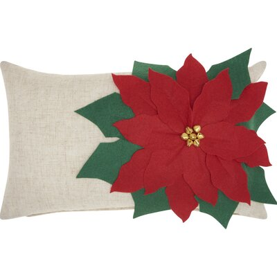 Poinsettia Lumbar Pillow