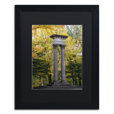 Autumn Columns Framed Photographic Print Size: 20