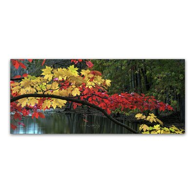 Autumn Red and Gold Photographic Print on Wrapped Canvas Size: 10
