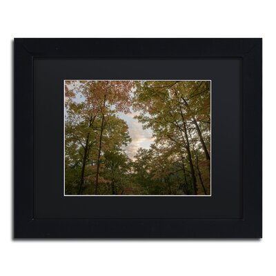 'Autumn Window to a Sunset' Framed Photographic Print on Canvas Size: 11
