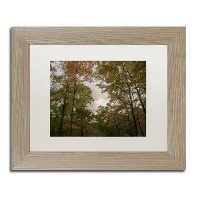 Autumn Window to a Sunset Framed Photographic Print
