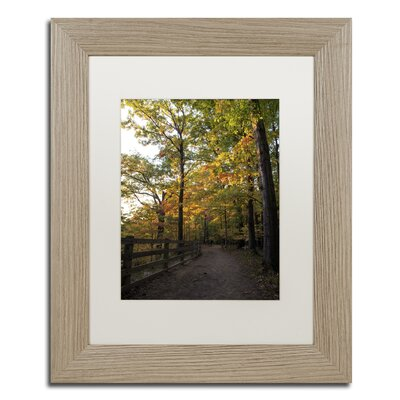 'Perfect End to an Autumn Day' Framed Photographic Print on Canvas Size: 14