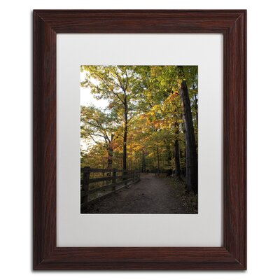 'Perfect End to an Autumn Day' Brown Framed Photographic Print Size: 14