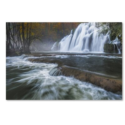 Waterfalls of Tufs in Jura Photographic Print on Wrapped Canvas