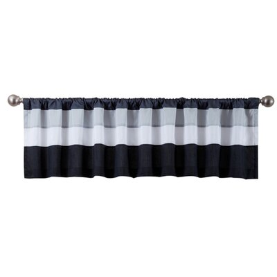 Three Posts Scottdale Black/White Rod Pocket Valance
