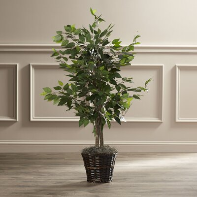 Artificial Potted Natural Ficus Tree in Basket