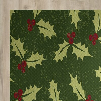 Holiday Green Indoor/Outdoor Area Rug Rug Size: 2 x 3