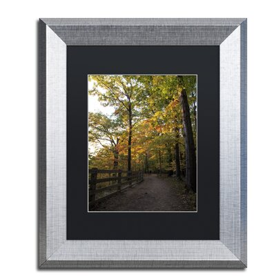 'Perfect End to an Autumn Day' Framed Photographic Print Size: 14