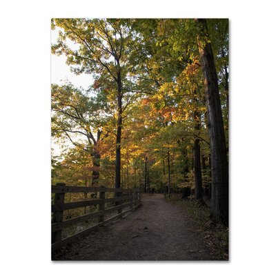 Perfect End to an Autumn Day Photographic Print on Wrapped Canvas