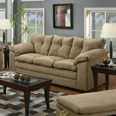 Simmons Upholstery Richland Sofa Upholstery: Luna Mineral