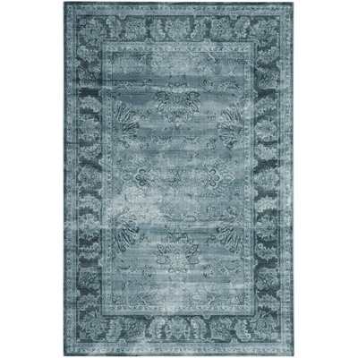 Oakfield Light Blue/Dark Blue Area Rug Rug Size: 51 x 76