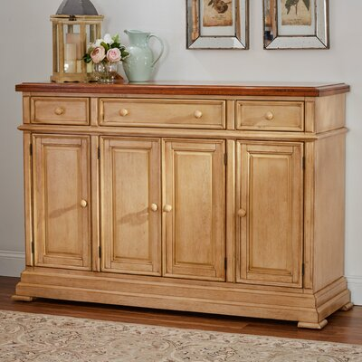 Courtdale Sideboard Color: Almond / Wheat