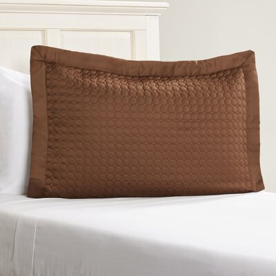 Westchester Quilt Sham Color: Coffee Circle, Size: Euro