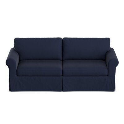 Greenside Replacement Sofa Slipcover Upholstery: Navy Blue Velvet, Skirted: Yes