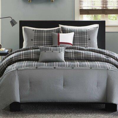 Sand Lake Comforter Set Size: King / California King, Color: Gray