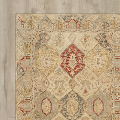 Ashville Hand-Tufted Oriental Area Rug Rug Size: Square 6