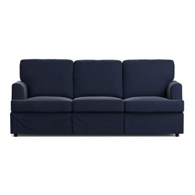 Spring Grove Replacement Sofa Slipcover Upholstery: Navy Blue Velvet, Skirted: Yes