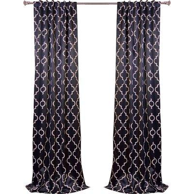 Ana Quatrefoil Rod Pocket Curtain Panel