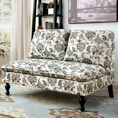 Worcester Contemporary Settee Upholstery Color: Floral