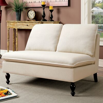 Parkes Contemporary Settee Upholstery Color: Ivory