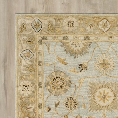 Ashville Hand-Tufted Light Bue / Beige Area Rug Rug Size: Square 6