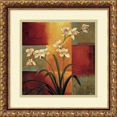 'White Orchid' by Jill Deveraux Framed Painting Print