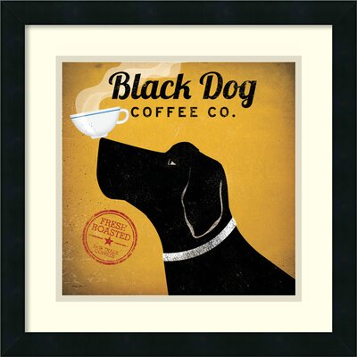 Black Dog Coffee Co. Framed Graphic Art