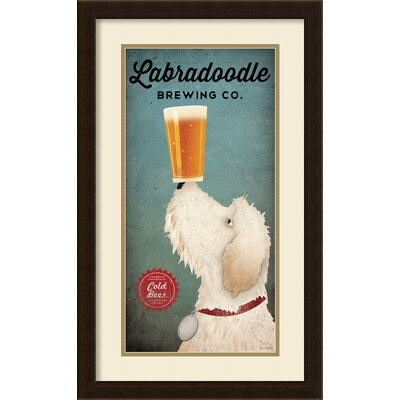 Doodle Beer Double II (panel) Framed Graphic Art