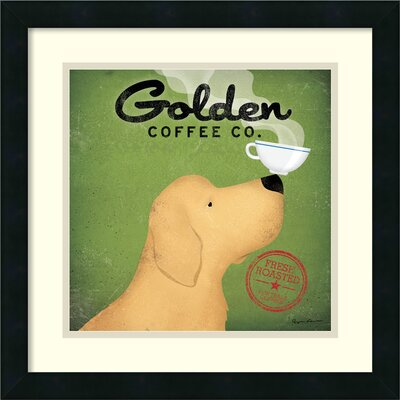 Golden Dog Coffee Co. Framed Graphic Art