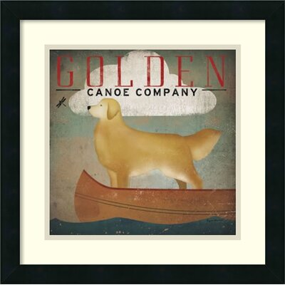 Golden Dog Canoe Co. (left face) Framed Graphic Art