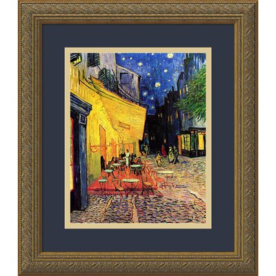 'Cafe Terrace at Night, 1888' by Vincent van Gogh Framed Painting Print
