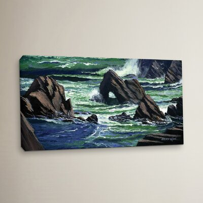 View from the Bluffs Painting Print on Wrapped Canvas