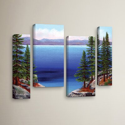 Tahoe Dreams 4 Piece Painting Print on Wrapped Canvas Set Size: 24
